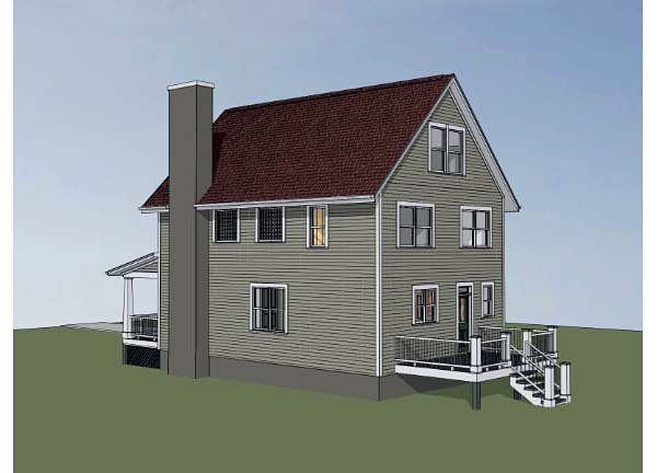 Colonial, Cottage, Southern Plan with 1667 Sq. Ft., 3 Bedrooms, 3 Bathrooms Picture 2