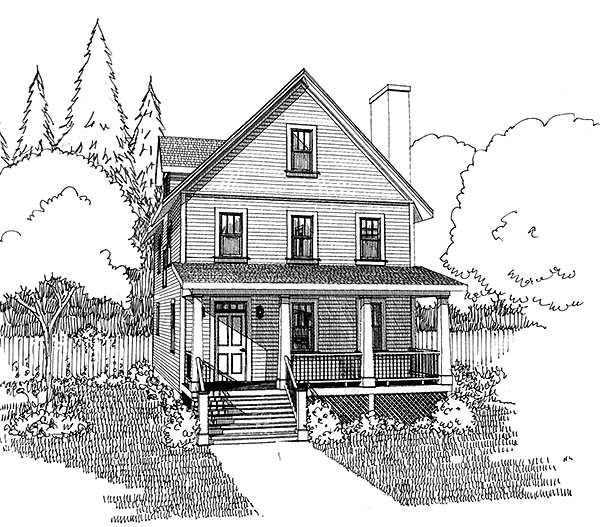 Colonial, Cottage, Southern Plan with 1667 Sq. Ft., 3 Bedrooms, 3 Bathrooms Picture 3