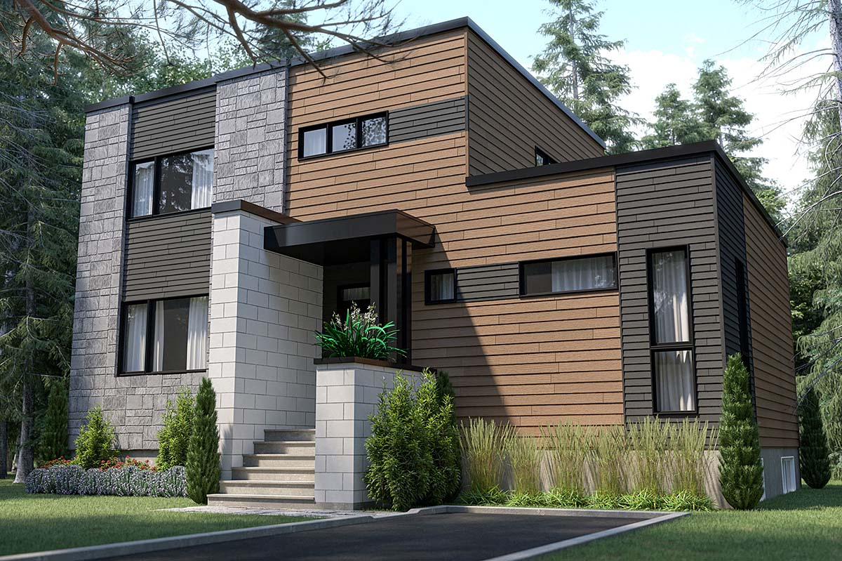 Plan with 1644 Sq. Ft., 4 Bedrooms, 3 Bathrooms Elevation