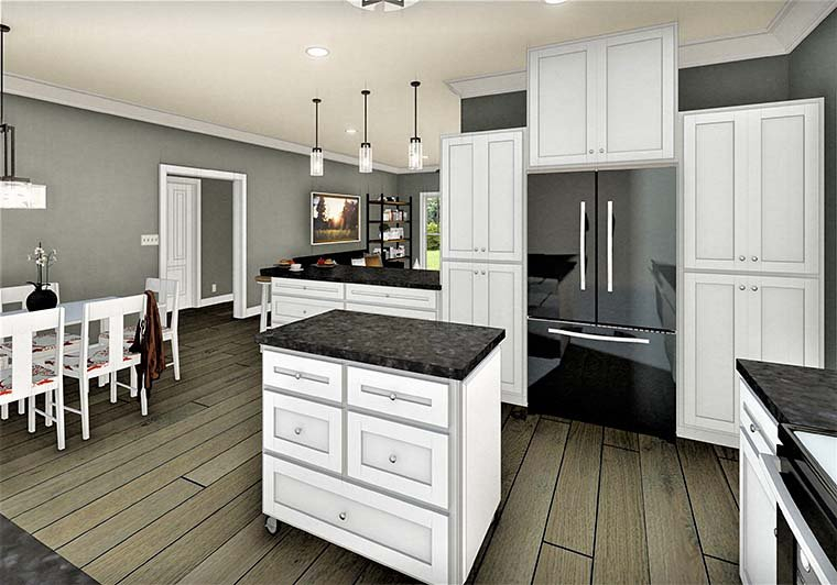 Country, Southern Plan with 1611 Sq. Ft., 3 Bedrooms, 2 Bathrooms, 2 Car Garage Picture 6