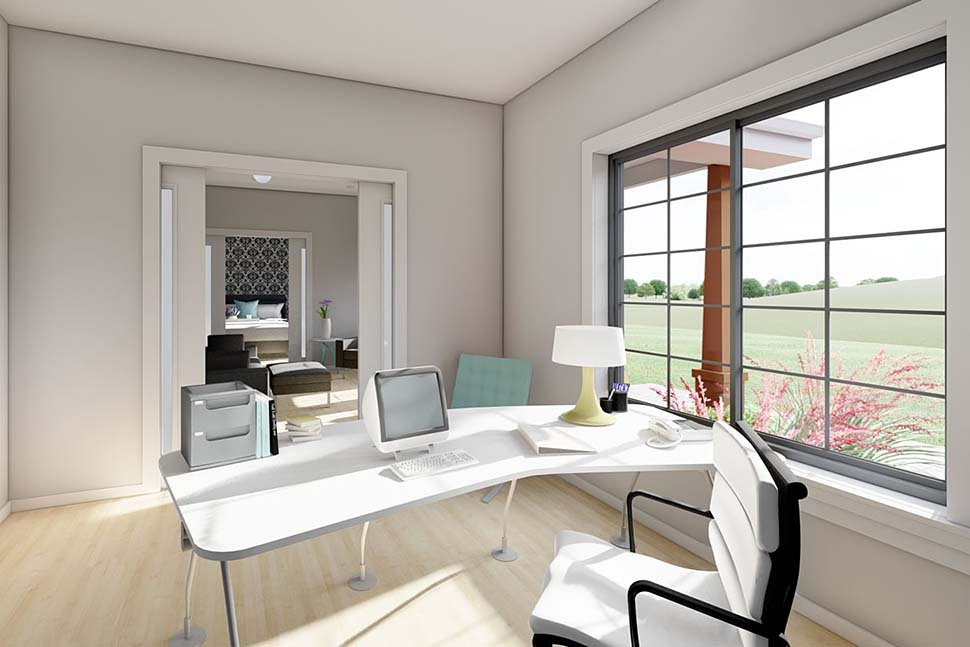 Bungalow, Cottage, Farmhouse, Ranch Plan with 928 Sq. Ft., 2 Bedrooms, 2 Bathrooms, 2 Car Garage Picture 10