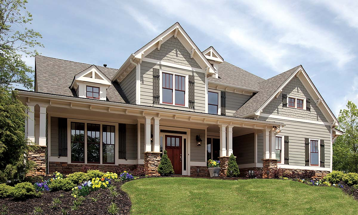 Country, Farmhouse, Southern, Traditional Plan with 2589 Sq. Ft., 4 Bedrooms, 3 Bathrooms, 2 Car Garage Elevation