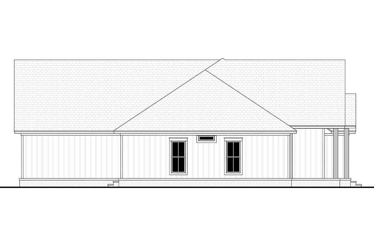 Country, Farmhouse, Southern, Traditional Plan with 2249 Sq. Ft., 3 Bedrooms, 3 Bathrooms, 2 Car Garage Picture 3
