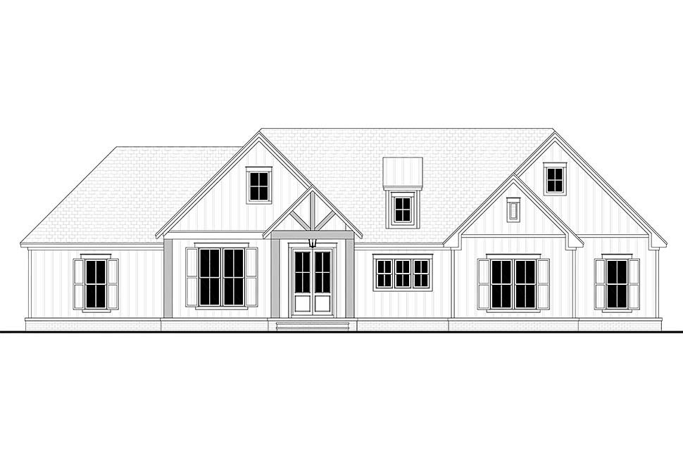 Country, Farmhouse, Southern, Traditional Plan with 2249 Sq. Ft., 3 Bedrooms, 3 Bathrooms, 2 Car Garage Picture 4