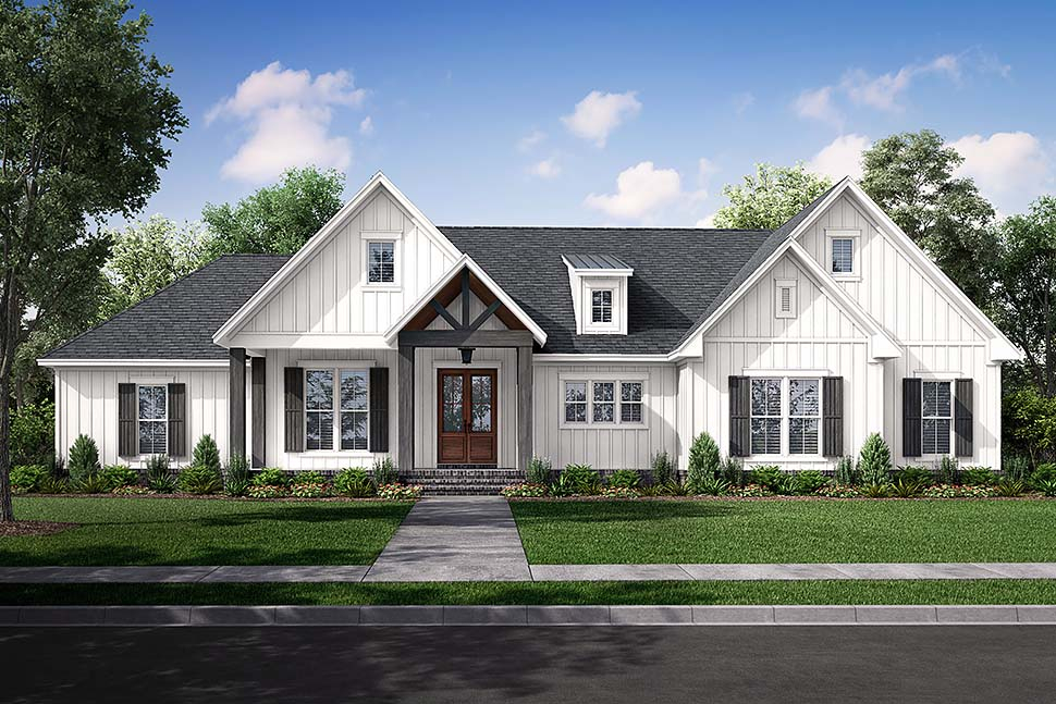 Country, Farmhouse, Southern, Traditional Plan with 2249 Sq. Ft., 3 Bedrooms, 3 Bathrooms, 2 Car Garage Picture 5