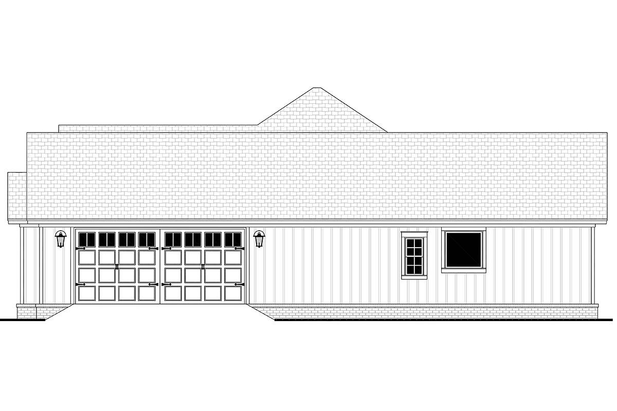 Country, Farmhouse, Ranch Plan with 2339 Sq. Ft., 3 Bedrooms, 3 Bathrooms, 2 Car Garage Picture 2