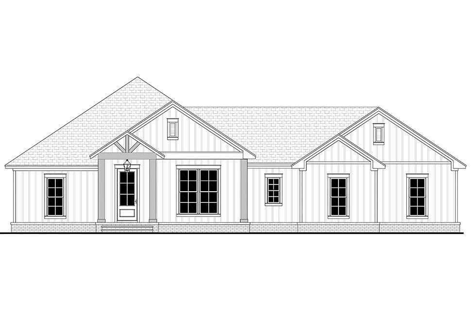 Country, Farmhouse, Ranch Plan with 2339 Sq. Ft., 3 Bedrooms, 3 Bathrooms, 2 Car Garage Picture 4