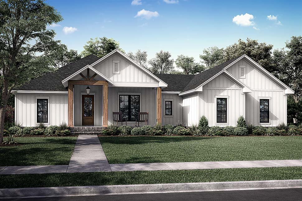 Country, Farmhouse, Ranch Plan with 2339 Sq. Ft., 3 Bedrooms, 3 Bathrooms, 2 Car Garage Picture 5
