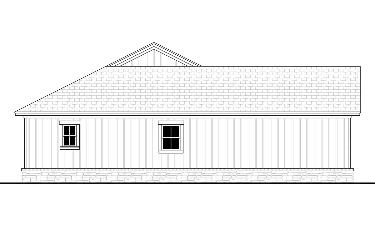 Bungalow, Country, Craftsman, Farmhouse, Ranch Plan with 1599 Sq. Ft., 3 Bedrooms, 3 Bathrooms, 2 Car Garage Picture 3