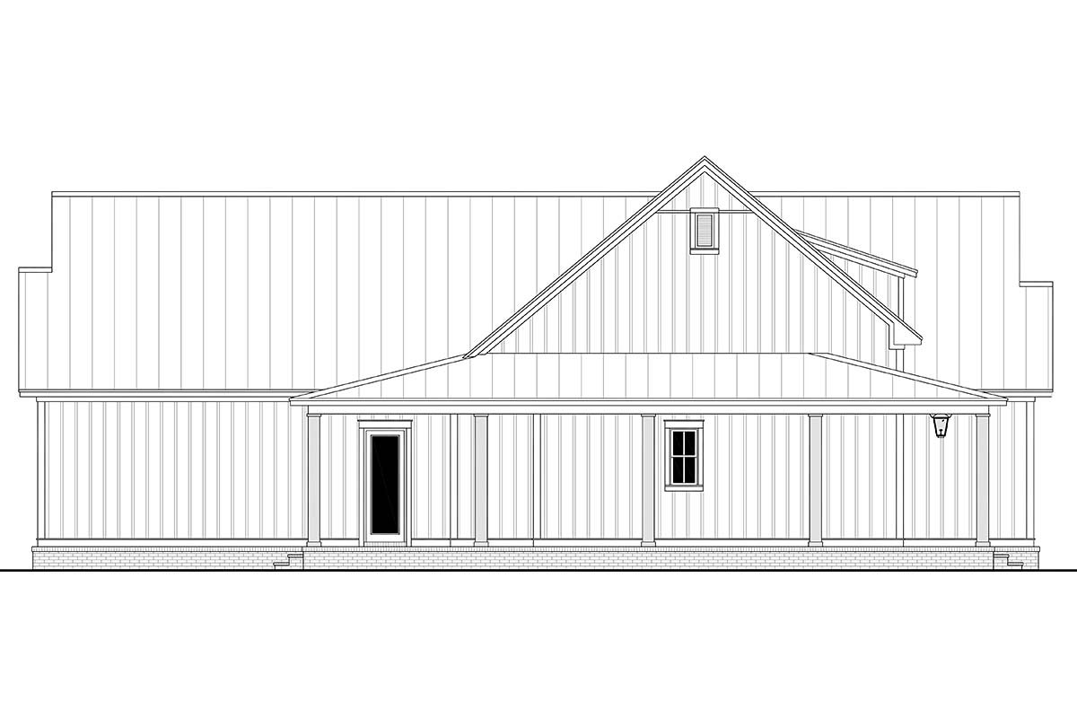 Country, Craftsman, Farmhouse, Traditional Plan with 2428 Sq. Ft., 3 Bedrooms, 3 Bathrooms, 2 Car Garage Picture 3