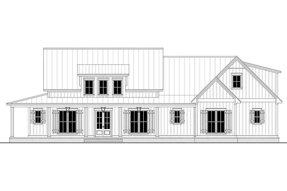 Country, Craftsman, Farmhouse, Traditional Plan with 2428 Sq. Ft., 3 Bedrooms, 3 Bathrooms, 2 Car Garage Picture 4