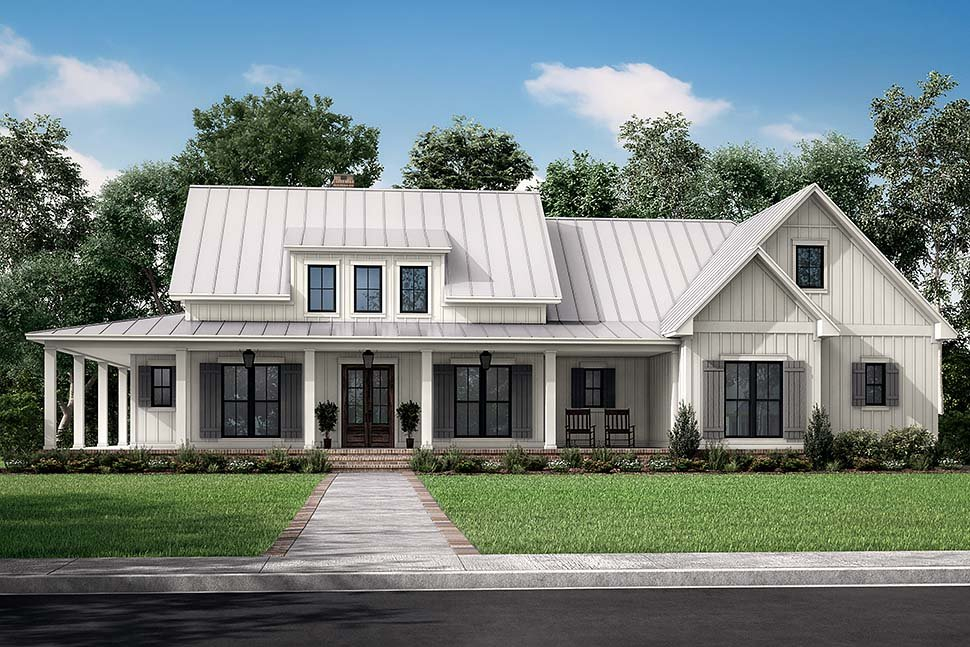 Country, Craftsman, Farmhouse, Traditional Plan with 2428 Sq. Ft., 3 Bedrooms, 3 Bathrooms, 2 Car Garage Picture 5