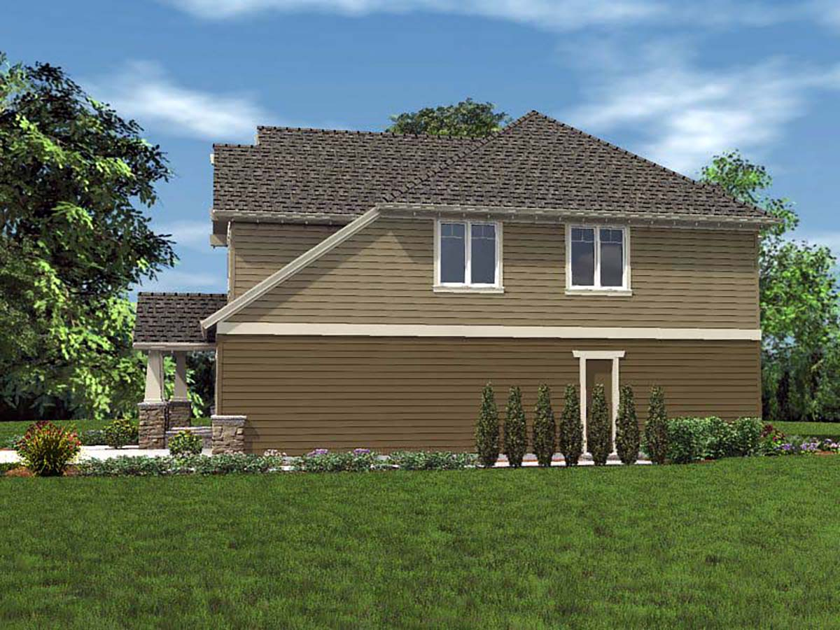 Cottage, Craftsman Plan with 2577 Sq. Ft., 4 Bedrooms, 3 Bathrooms, 2 Car Garage Picture 2