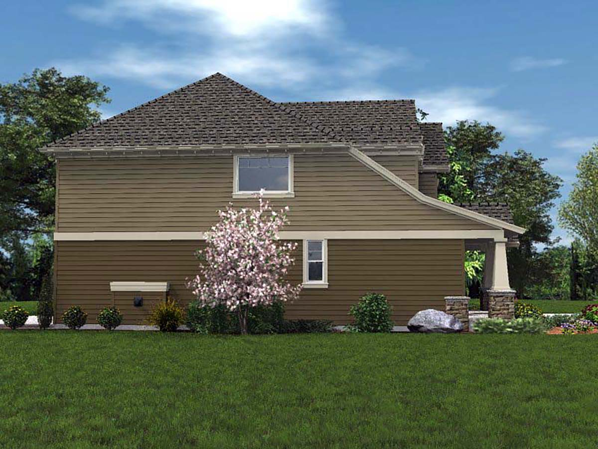 Cottage, Craftsman Plan with 2577 Sq. Ft., 4 Bedrooms, 3 Bathrooms, 2 Car Garage Picture 3
