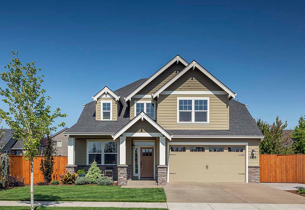 Cottage, Craftsman Plan with 2577 Sq. Ft., 4 Bedrooms, 3 Bathrooms, 2 Car Garage Picture 4