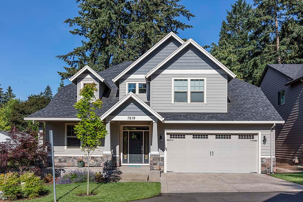 Cottage, Craftsman Plan with 2577 Sq. Ft., 4 Bedrooms, 3 Bathrooms, 2 Car Garage Picture 8
