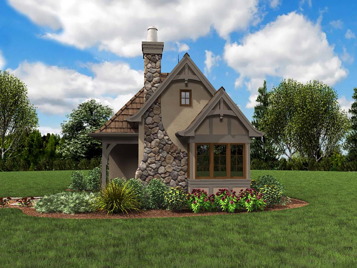 Cabin, Cottage, Narrow Lot, One-Story Plan with 300 Sq. Ft., 1 Bedrooms, 1 Bathrooms Picture 2