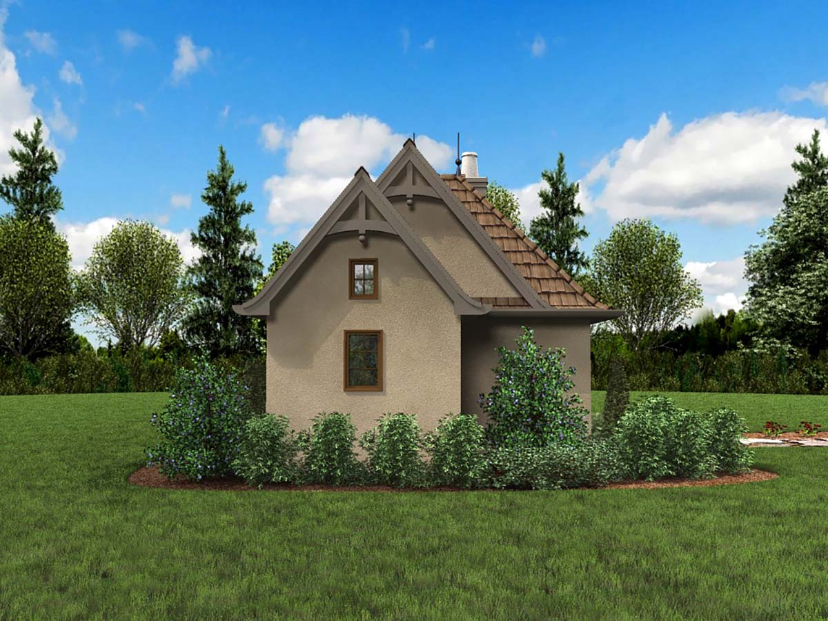 Cabin, Cottage, Narrow Lot, One-Story Plan with 300 Sq. Ft., 1 Bedrooms, 1 Bathrooms Picture 3