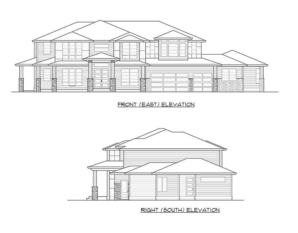 Contemporary, Modern Plan with 5765 Sq. Ft., 6 Bedrooms, 6 Bathrooms, 3 Car Garage Picture 4
