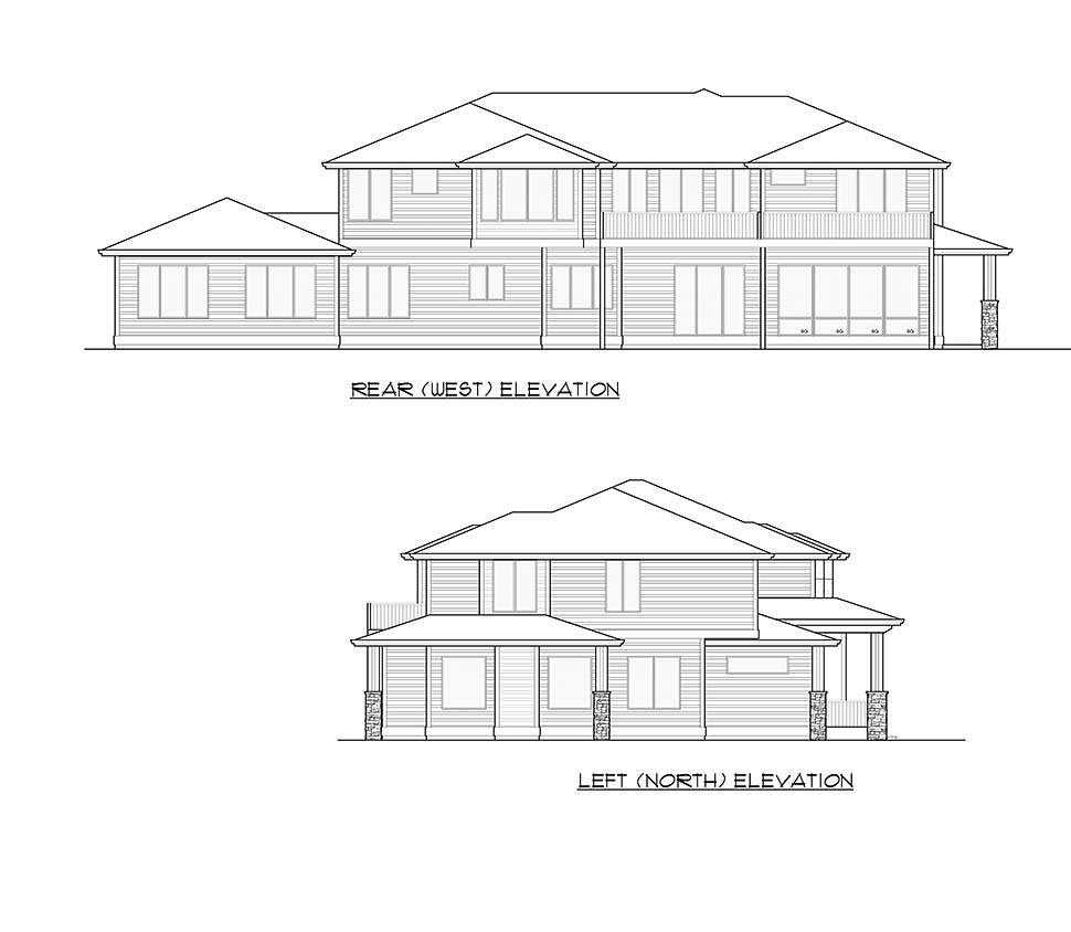 Contemporary, Modern Plan with 5765 Sq. Ft., 6 Bedrooms, 6 Bathrooms, 3 Car Garage Picture 5