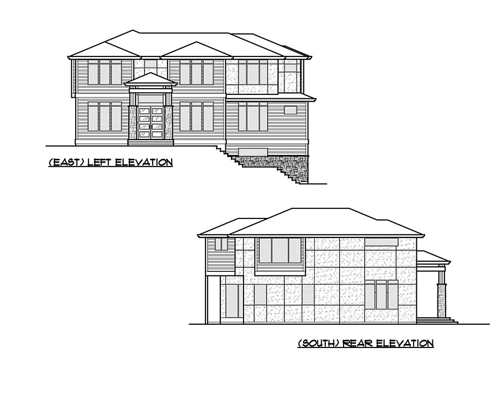 Contemporary, Modern Plan with 4417 Sq. Ft., 5 Bedrooms, 5 Bathrooms, 2 Car Garage Picture 5