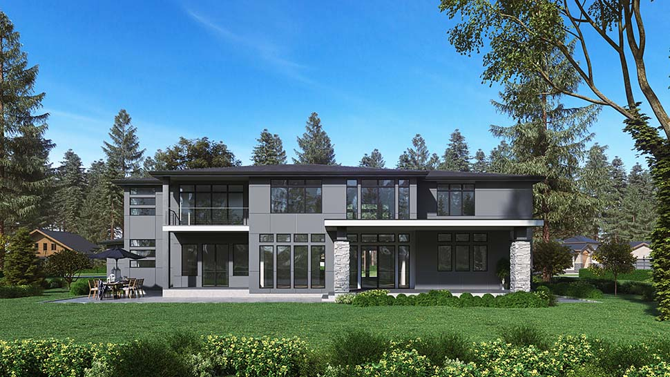 Contemporary, Modern Plan with 5195 Sq. Ft., 4 Bedrooms, 5 Bathrooms, 3 Car Garage Picture 4