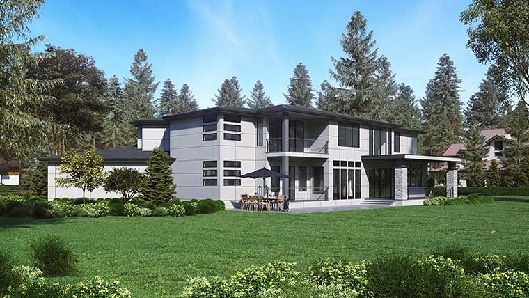 Contemporary, Modern Plan with 5195 Sq. Ft., 4 Bedrooms, 5 Bathrooms, 3 Car Garage Picture 6