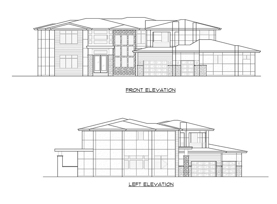 Contemporary, Modern Plan with 5195 Sq. Ft., 4 Bedrooms, 5 Bathrooms, 3 Car Garage Picture 7