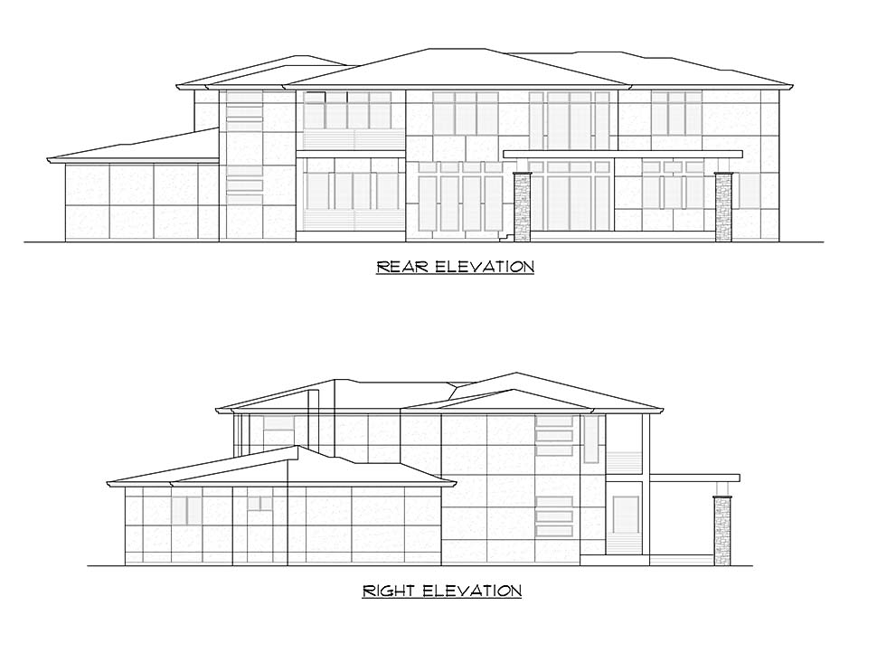 Contemporary, Modern Plan with 5195 Sq. Ft., 4 Bedrooms, 5 Bathrooms, 3 Car Garage Picture 8