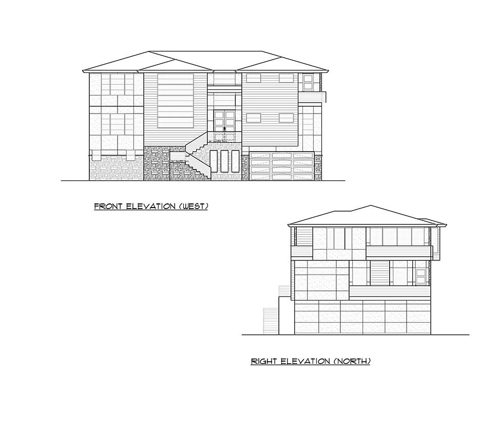 Contemporary, Modern Plan with 5010 Sq. Ft., 4 Bedrooms, 6 Bathrooms, 4 Car Garage Picture 4