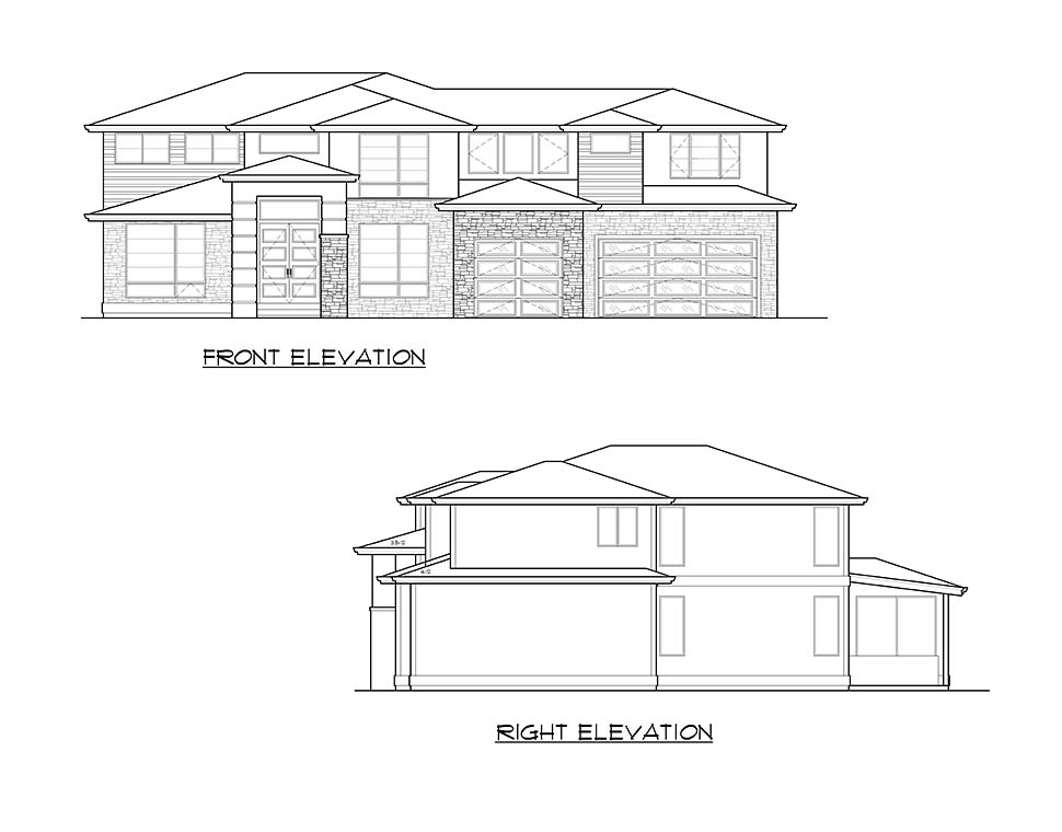Contemporary, Modern Plan with 3315 Sq. Ft., 4 Bedrooms, 3 Bathrooms, 3 Car Garage Picture 4