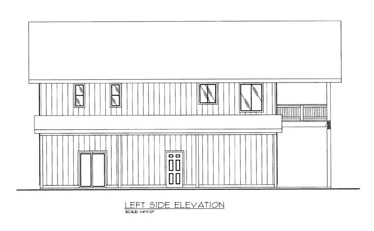 Contemporary, Farmhouse Plan with 1901 Sq. Ft., 2 Bedrooms, 3 Bathrooms, 2 Car Garage Picture 2
