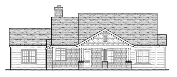 Country, Southern Plan with 1616 Sq. Ft., 3 Bedrooms, 2 Bathrooms, 2 Car Garage Picture 2