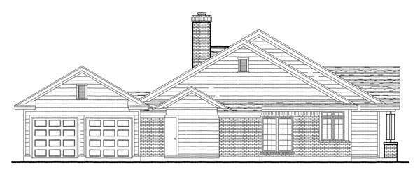 Country, Southern Plan with 1616 Sq. Ft., 3 Bedrooms, 2 Bathrooms, 2 Car Garage Picture 3