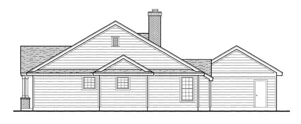 Country, Southern Plan with 1616 Sq. Ft., 3 Bedrooms, 2 Bathrooms, 2 Car Garage Picture 4