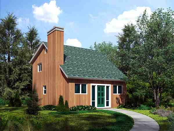 Cabin, Contemporary House Plan 10751 with 2 Beds, 2 Baths Elevation