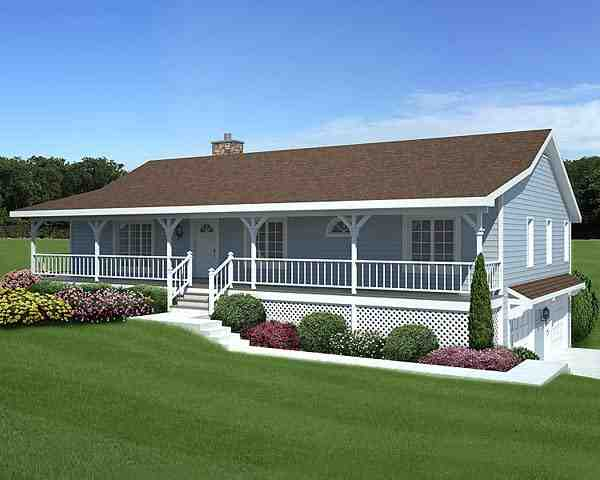 Country, Traditional House Plan 20198 with 3 Beds, 2 Baths, 2 Car Garage Elevation