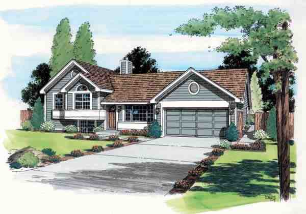 Contemporary, Traditional House Plan 24305 with 3 Beds, 2 Baths, 2 Car Garage Elevation