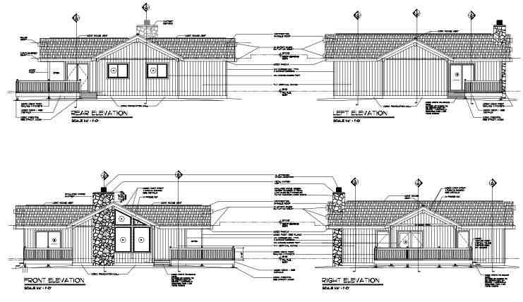 Cabin, Contemporary House Plan 24311 with 2 Beds, 2 Baths Picture 1