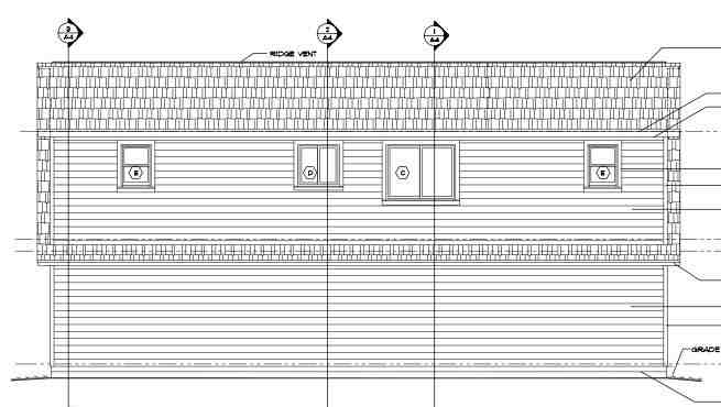 Cape Cod, Country, Traditional 3 Car Garage Apartment Plan 30032 with 2 Beds, 2 Baths Rear Elevation