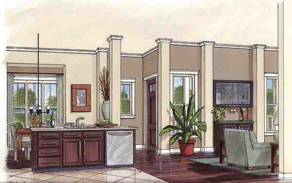 Bungalow, Cottage, Country House Plan 30502 with 3 Beds, 2 Baths, 2 Car Garage Picture 1