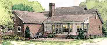 Colonial, European, Southern House Plan 40024 with 3 Beds, 3 Baths, 2 Car Garage Rear Elevation