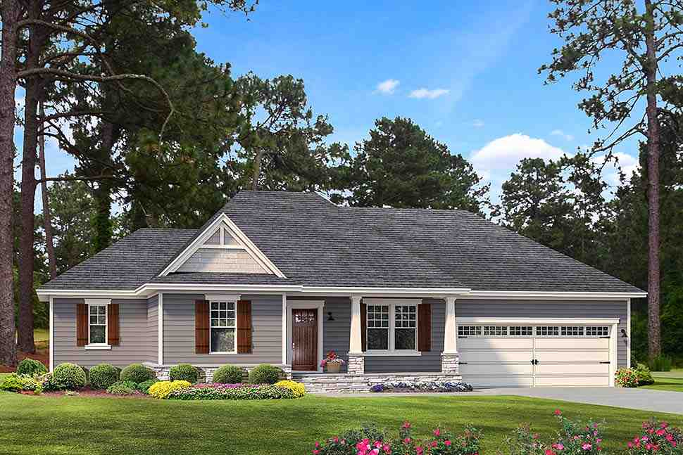 Cape Cod, Cottage, Country, Craftsman, Farmhouse, Southern, Traditional House Plan 40042 with 3 Beds, 2 Baths, 2 Car Garage Elevation