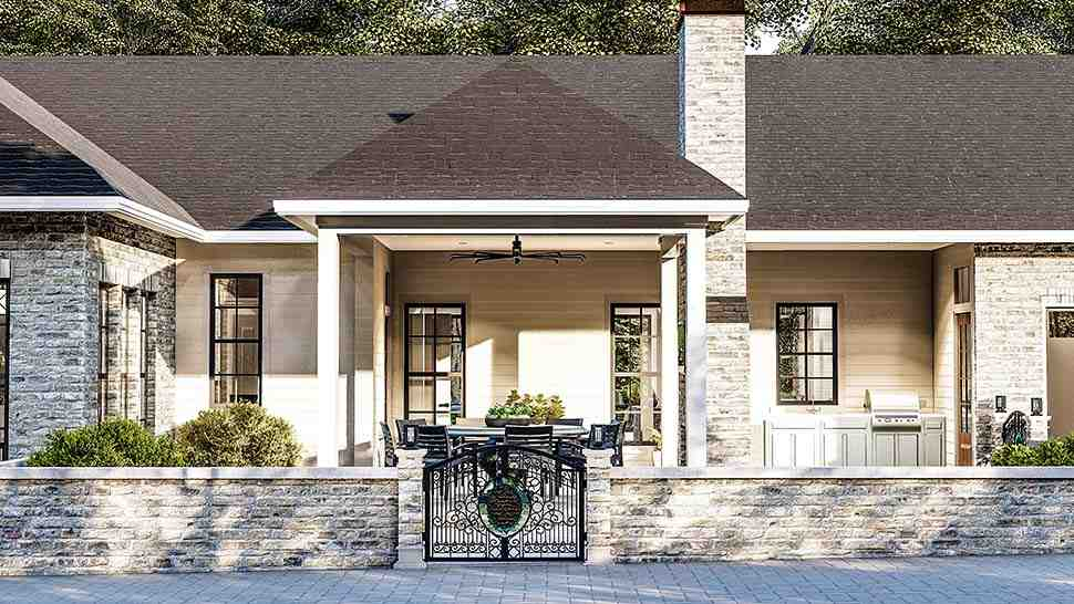Cottage, Country, Southern, Traditional House Plan 40044 with 3 Beds, 2 Baths, 2 Car Garage Picture 3