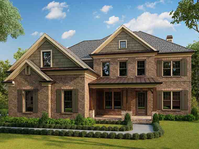 Colonial, Country, Southern, Traditional House Plan 40102 with 5 Beds, 6 Baths, 2 Car Garage Elevation