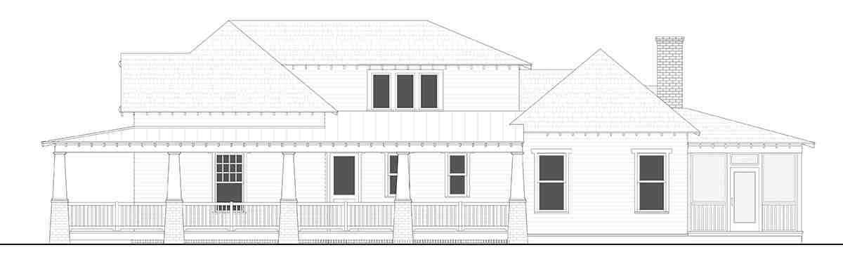Bungalow, Cottage, Country, Craftsman, Farmhouse, Southern, Traditional House Plan 40103 with 4 Beds, 4 Baths, 2 Car Garage Picture 1