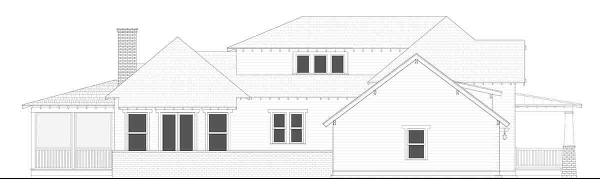 Bungalow, Cottage, Country, Craftsman, Farmhouse, Southern, Traditional House Plan 40103 with 4 Beds, 4 Baths, 2 Car Garage Picture 2