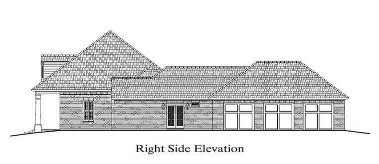 Colonial, French Country, Southern House Plan 40311 with 4 Beds, 3 Baths, 3 Car Garage Picture 2