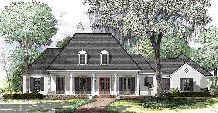 Colonial, French Country, Southern House Plan 40311 with 4 Beds, 3 Baths, 3 Car Garage Picture 3