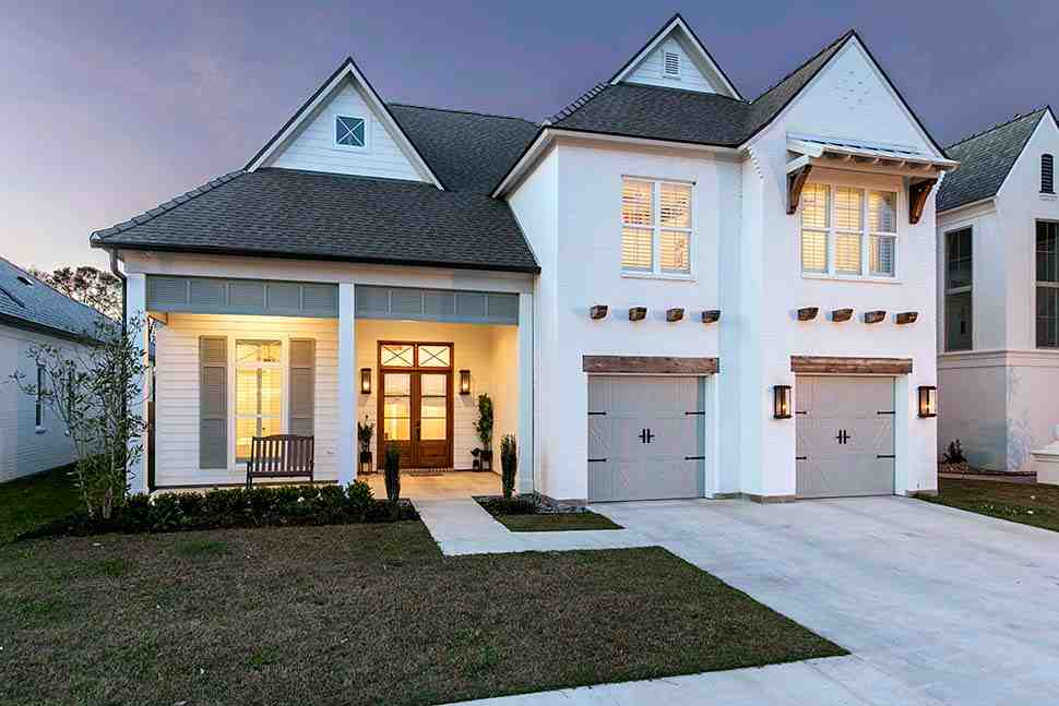 Country, European, French Country House Plan 40337 with 4 Beds, 4 Baths, 2 Car Garage Picture 1